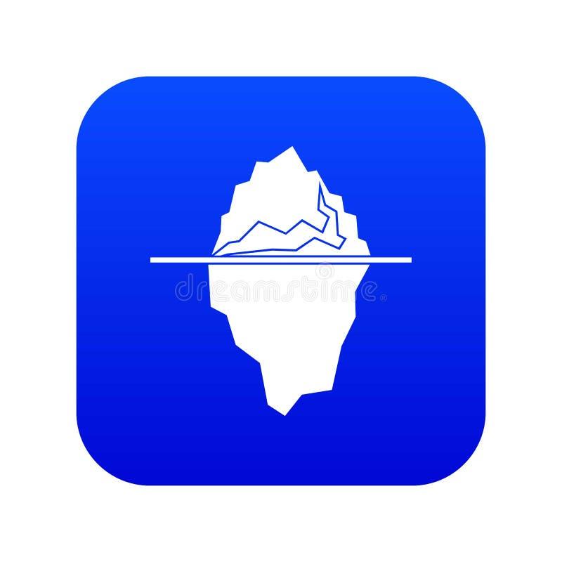 Blu digitale dell'icona dell'iceberg illustrazione di stock