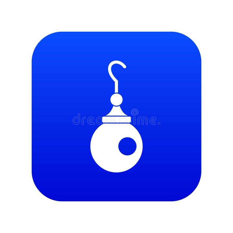 Blu digitale dell'icona dell'orecchino royalty illustrazione gratis