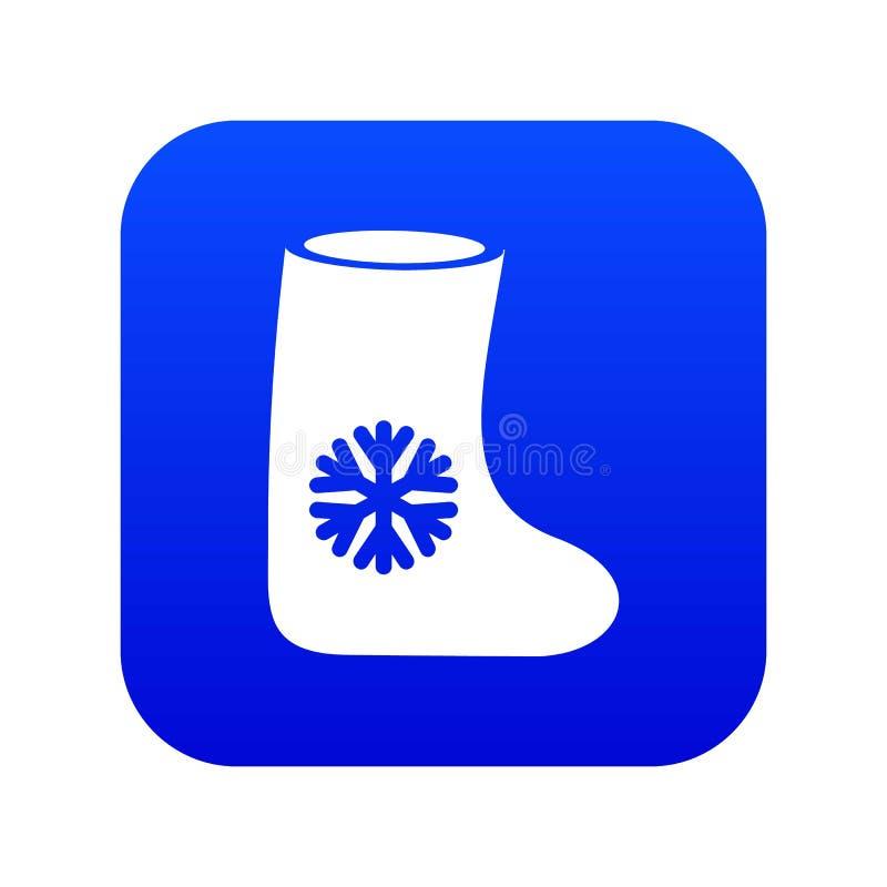 Blu digitale ritenuto dell'icona degli stivali royalty illustrazione gratis