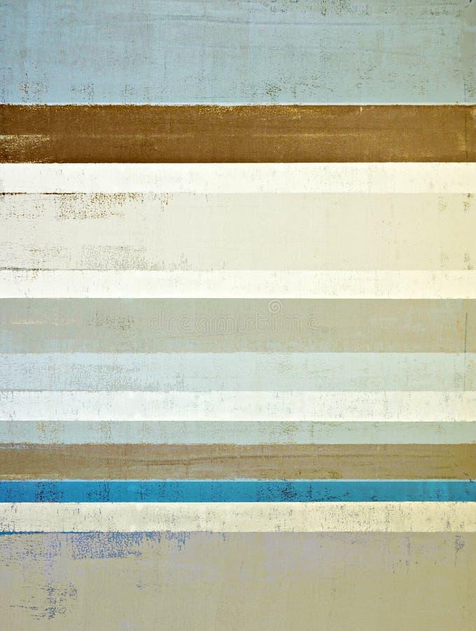 Blu ed estratto Art Painting di Brown fotografie stock