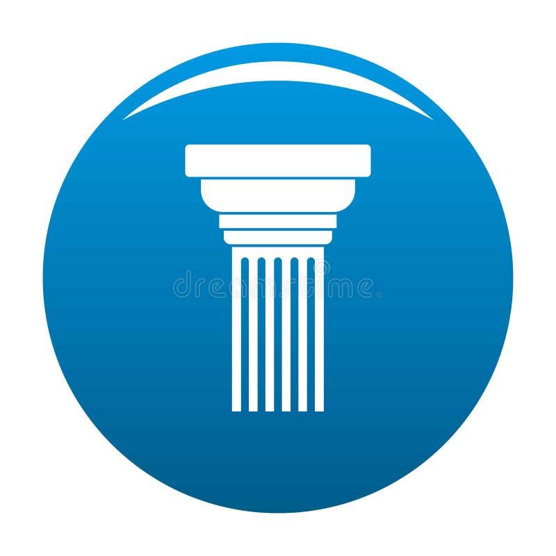 Blu espandentesi dell'icona della colonna illustrazione di stock