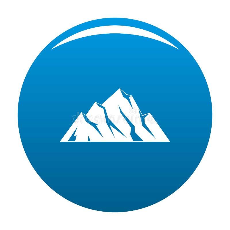 Blu estremo dell'icona della montagna illustrazione vettoriale