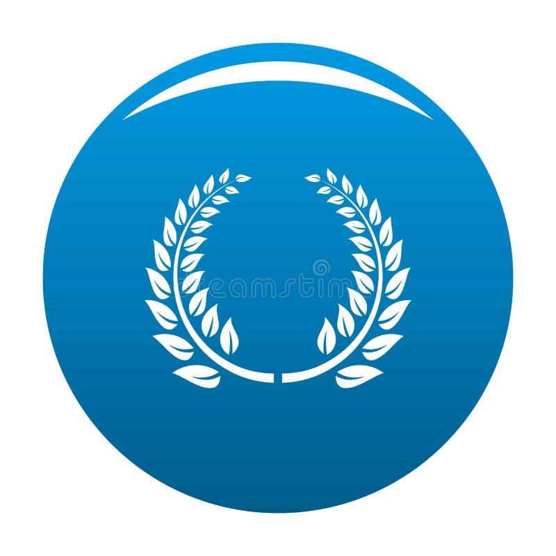 Blu floreale dell'icona della corona illustrazione di stock