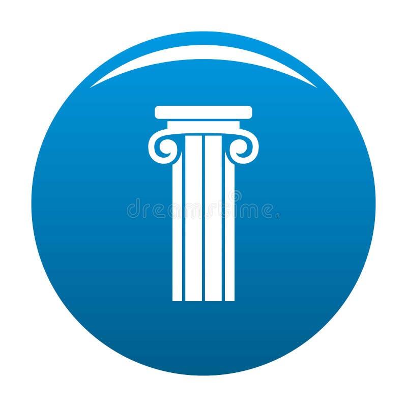 Blu francese dell'icona della colonna illustrazione di stock