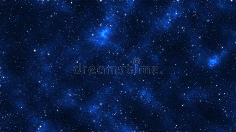 Blu galaxian della stella immagine stock