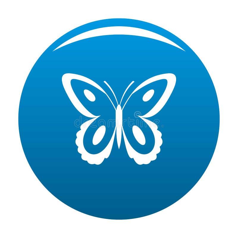Blu macchiato dell'icona della farfalla royalty illustrazione gratis