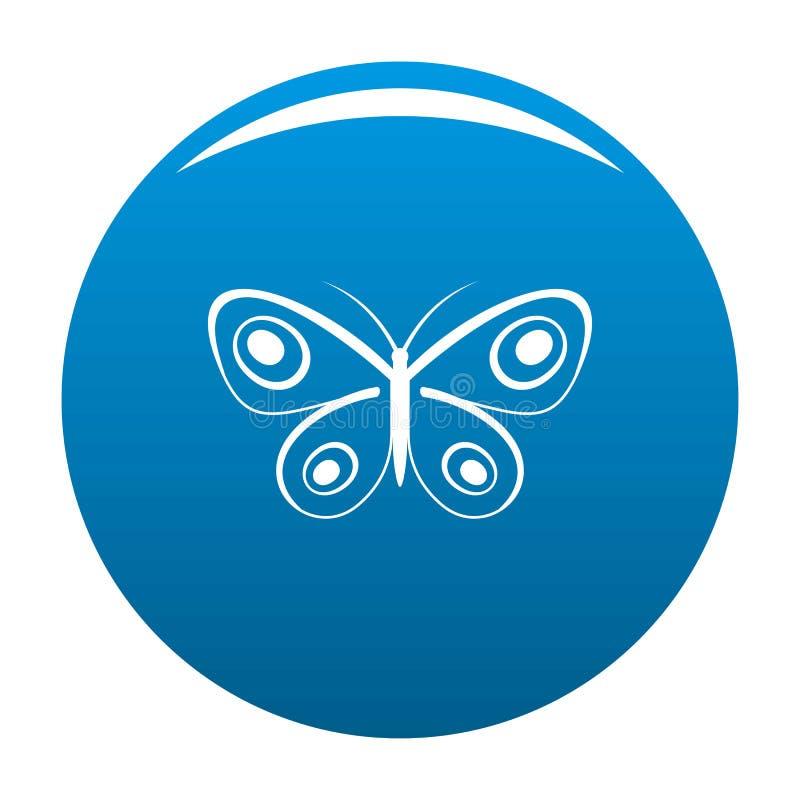 Blu minuscolo dell'icona della farfalla royalty illustrazione gratis