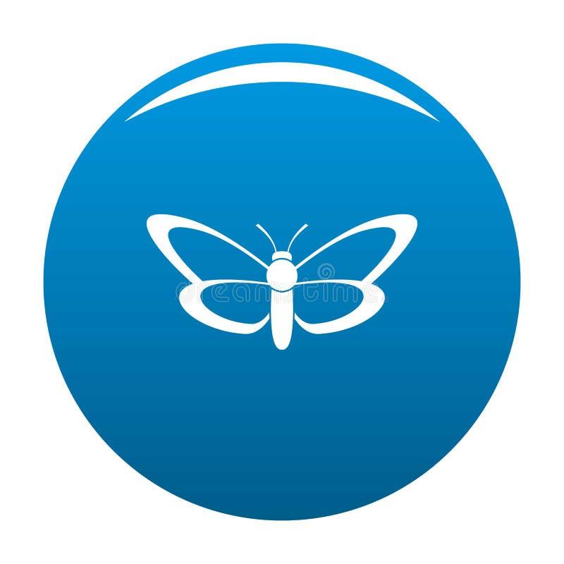 Blu piacevole dell'icona della farfalla illustrazione vettoriale
