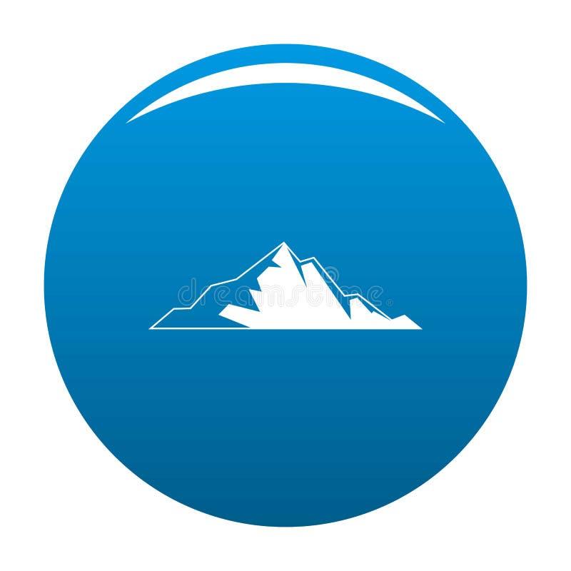 Blu piacevole dell'icona della montagna royalty illustrazione gratis