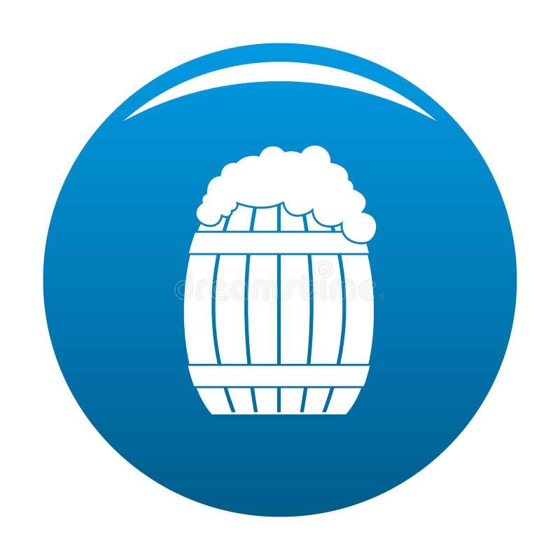 Blu pieno dell'icona del barilotto royalty illustrazione gratis