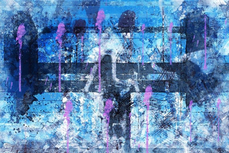 Blu, porpora, arte, viola immagine stock
