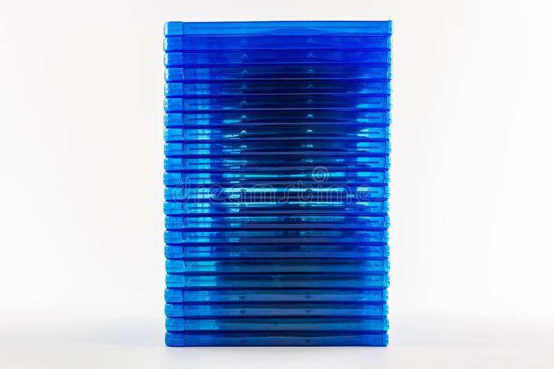 Blu Ray dyska pudełka. zdjęcie royalty free