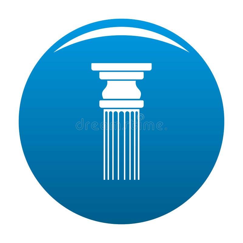 Blu rettangolare dell'icona della colonna illustrazione di stock