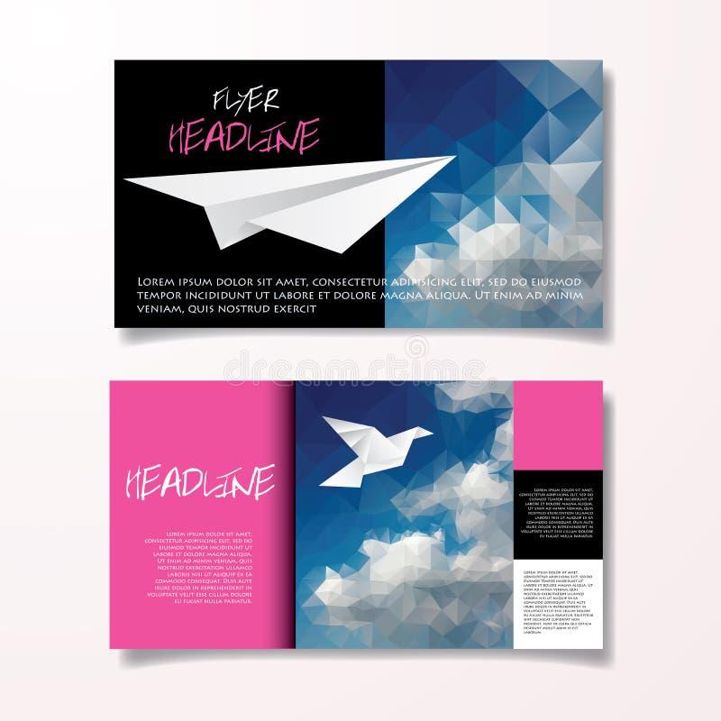 Blu rosa dell'aletta di filatoio illustrazione di stock