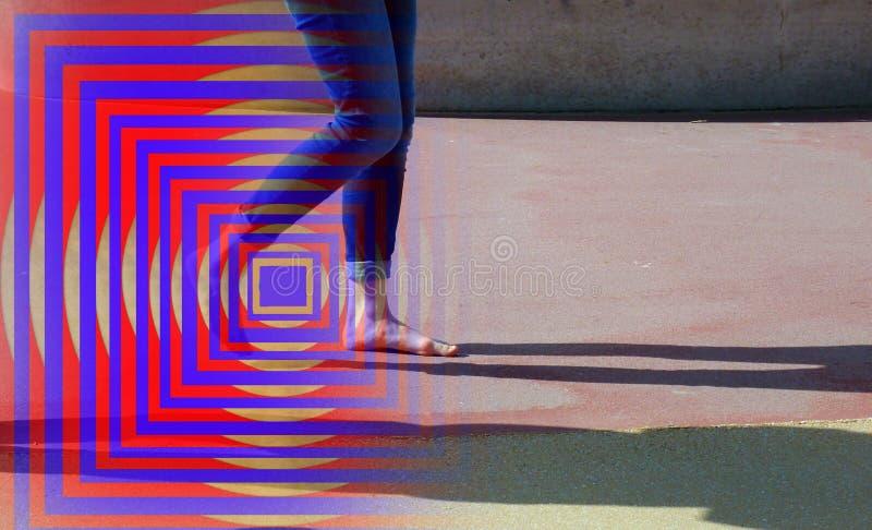 Blu, rosso, arte moderna, linea fotografia stock libera da diritti