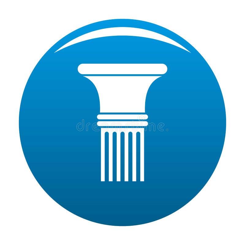 Blu scanalato in dell'icona della colonna illustrazione vettoriale