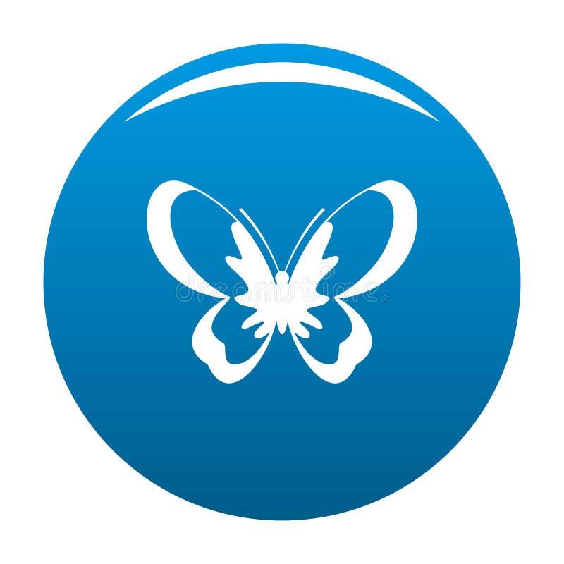 Blu sconosciuto dell'icona della farfalla illustrazione vettoriale