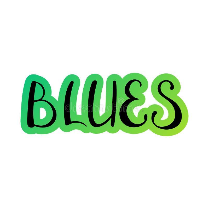 Blu scritti a mano royalty illustrazione gratis