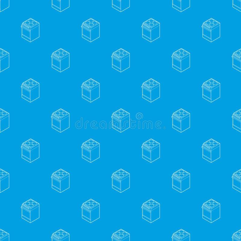 Blu senza cuciture del fornello elettrico di vettore moderno del modello royalty illustrazione gratis