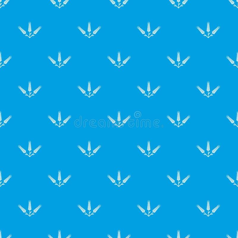 Blu senza cuciture del grano di vettore abbondante del modello illustrazione vettoriale