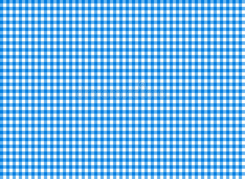 Blu senza cuciture del modello della tovaglia illustrazione vettoriale