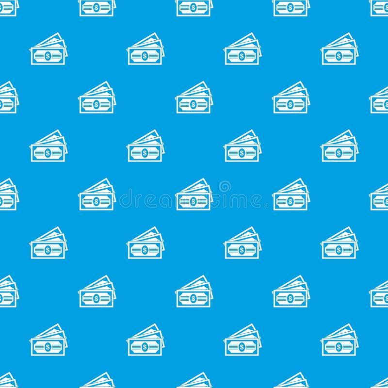 Blu senza cuciture del modello di tre banconote in dollari royalty illustrazione gratis
