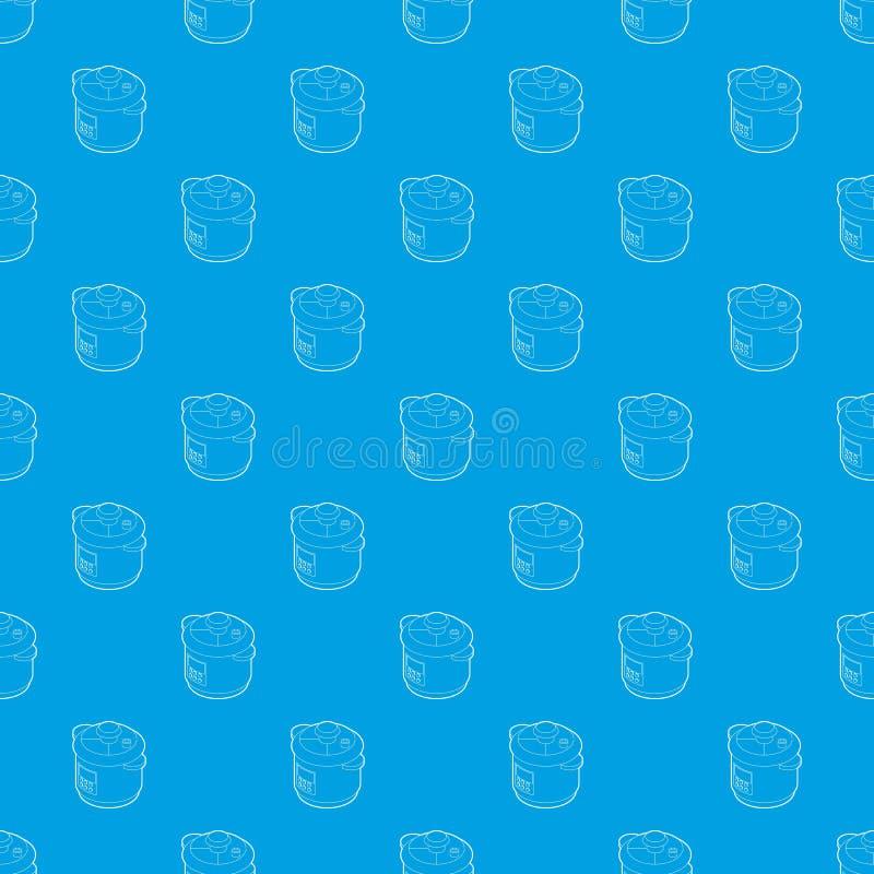 Blu senza cuciture di multi del fornello vettore del modello royalty illustrazione gratis