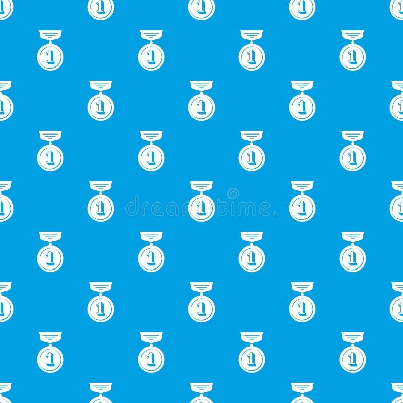 Blu senza cuciture di vettore del modello della medaglia illustrazione vettoriale