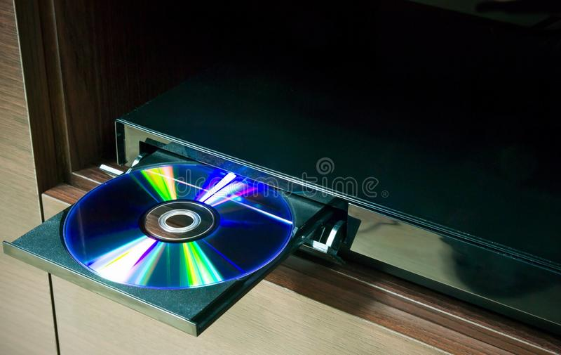 Blu-straal of speler DVD stock afbeelding
