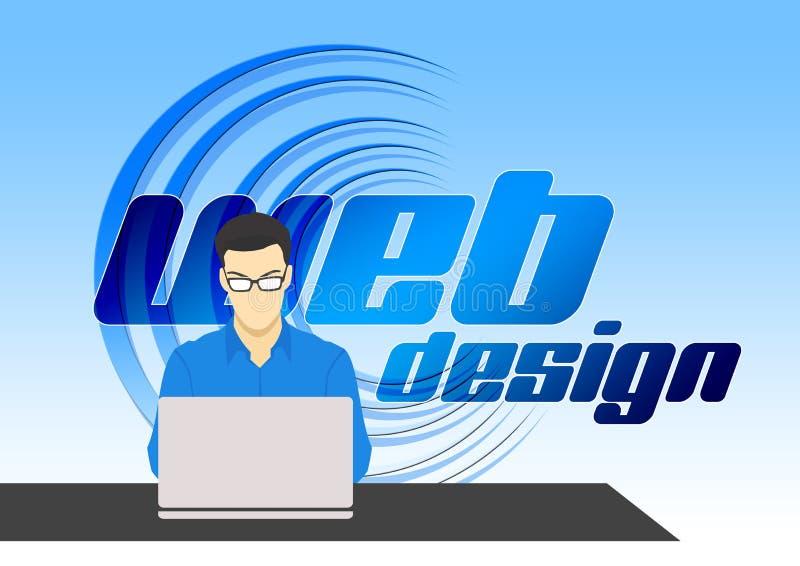 Blu, testo, tecnologia, pubblicità on line immagine stock
