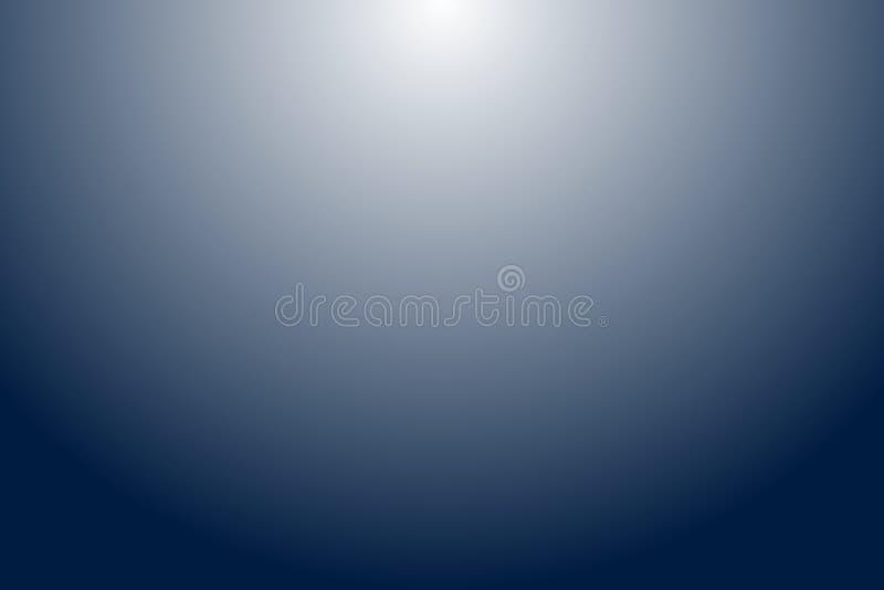 Blu vuoto astratto e fondo grigio di pendenza illustrazione di stock