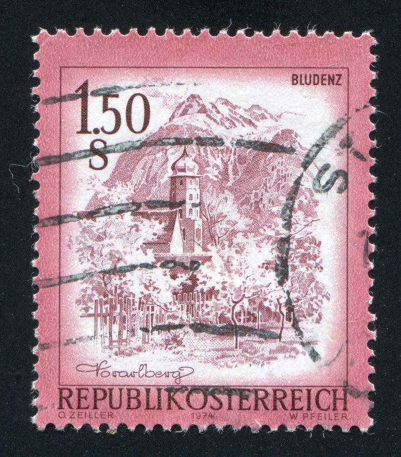 Bludenz. AUSTRIA - CIRCA 1974: stamp printed by Austria, shows Bludenz, circa 1974 stock photo