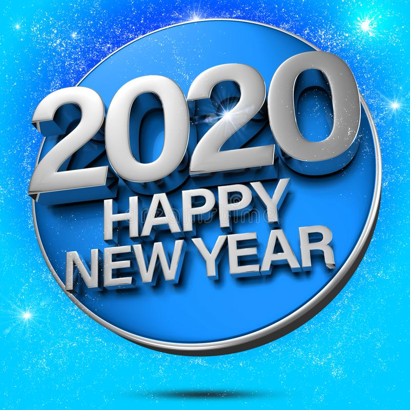 Free Blue 2020 3d. Royalty Free Stock Images - 155624979