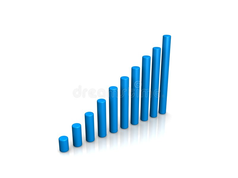 Download Blue 3d chart stock illustration. Image of demographic - 5437292