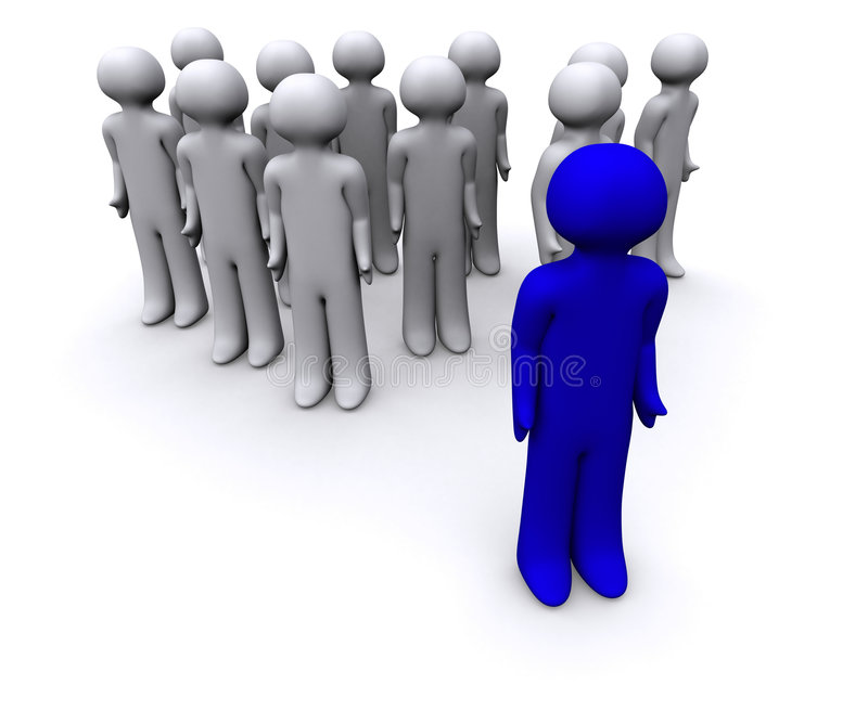 Blue 3D Guy royalty free stock photo