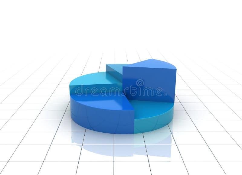 A Blue 3d Pie Chart Graph Illustration Stock Photos