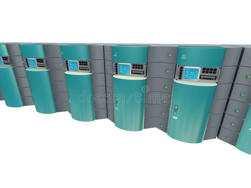 Blue 3d servers stock photo