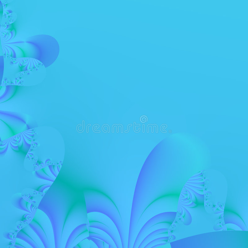 Blue Abstract Background. Background or wallpaper of Beautiful Blue fractal pattern. The perfect background for any web site, or use as a backdrop on printed vector illustration