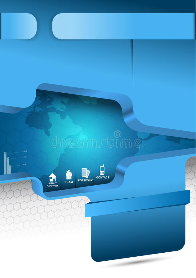 Download Blue  Abstract Background For Brochure Or Website Royalty Free Stock Photos - Image: 33018038