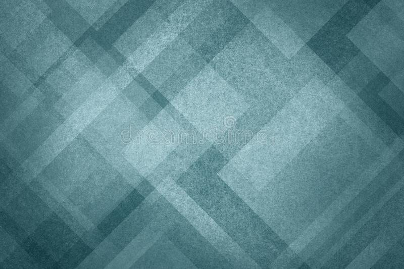 Blue abstract background with modern geometric pattern design and old vintage texture royalty free illustration
