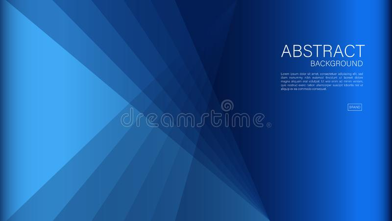 Blue abstract background, polygon, Geometric vector, graphic, Minimal Texture, cover design, flyer template, banner, web page. Book cover, advertisement royalty free illustration