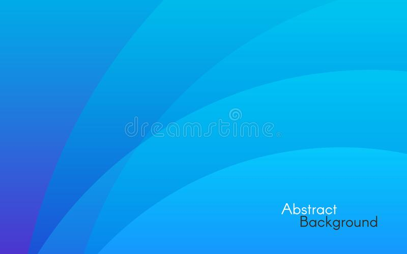 Blue abstract background. Simple lines and soft light. Minimal backdrop for website. Design template. Color gradients and shapes. vector illustration