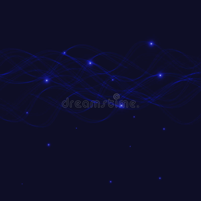 Blue abstract background with stars stock photography