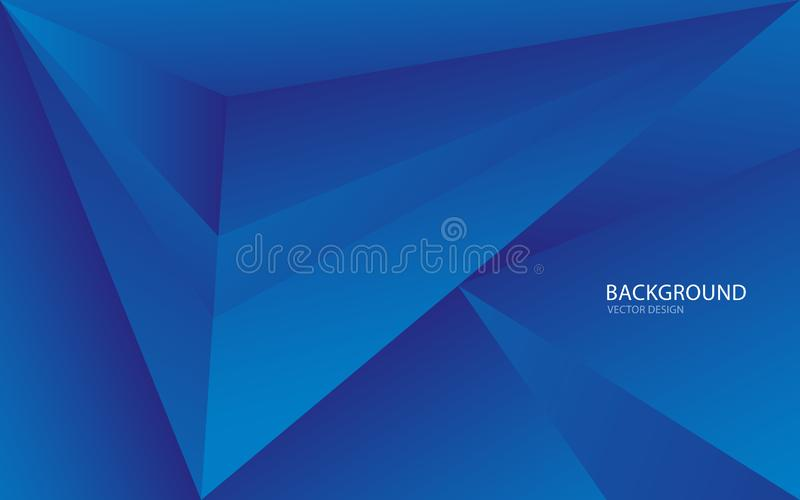 Blue abstract background vector illustration. wall. web banner. cover. card. texture. wallpaper. flyer. brochure. annual report. Polygonal vector concept royalty free illustration
