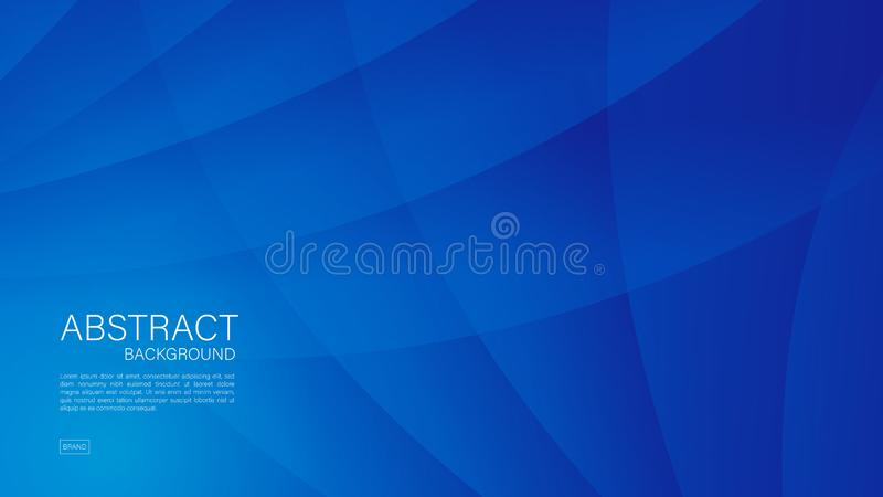 Blue abstract background, wave, Geometric vector, graphic, Minimal Texture, cover design, flyer template, banner, web page, book. Cover stock illustration