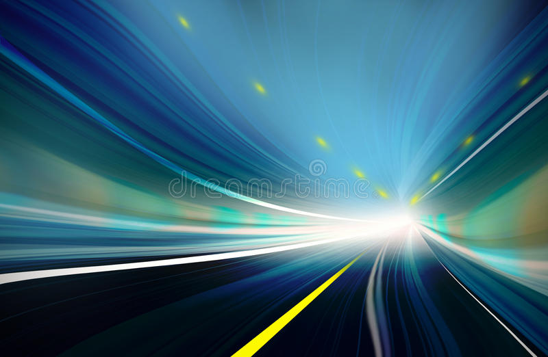 Blue Abstract blurred speed motion vector illustration