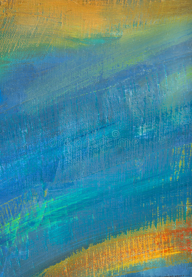 Blue abstract canvas stock image