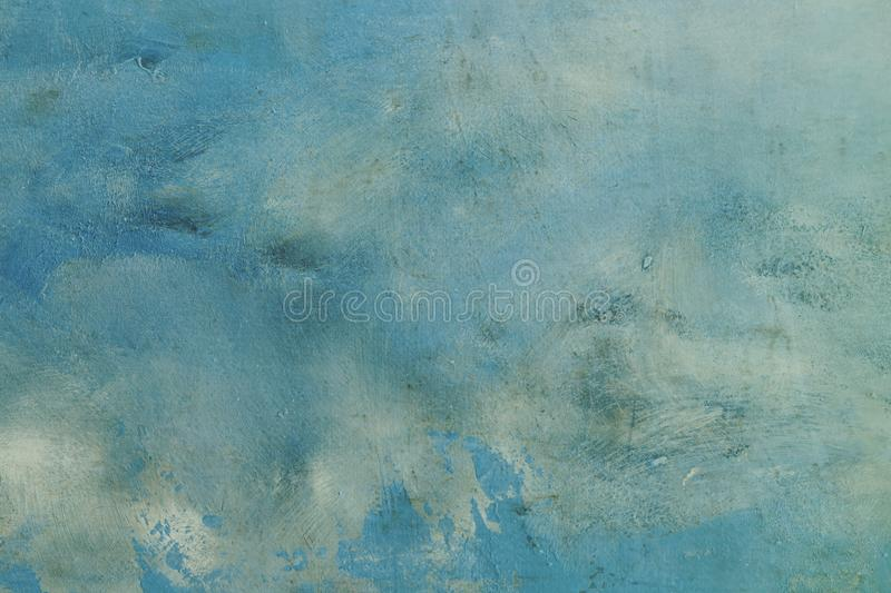 Blue abstract background or texture. Blue grungy canvas background or texture stock photo