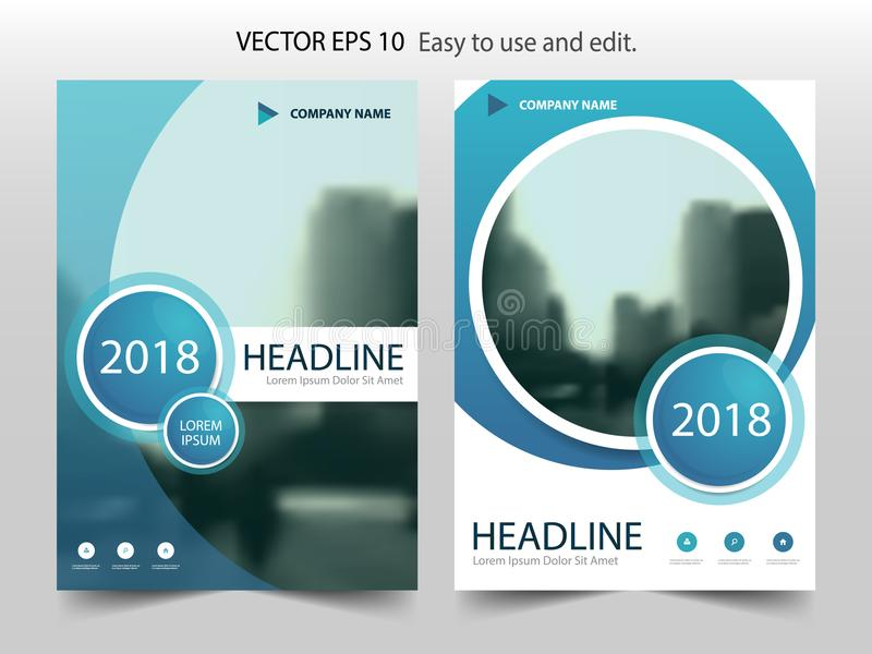 Blue abstract circle Brochure flyer annual report design royalty free illustration