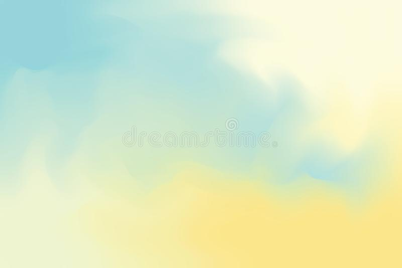Blue abstract colorful bright color paint brush art background, multi colorful painting art acrylic water color wallpaper pastel stock illustration